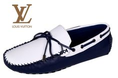 Louis Vuitton Moccasin Blue white Louis Vuitton Loafers, Boat Shoes, Men's Shoes, Sperrys, Moccasins, Blue And White, Flats, Casual, Fashion