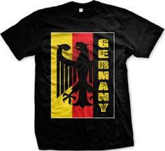 German Flag Germany Deutschland Pride Soccer Fußball Juniors V-neck T-shirt