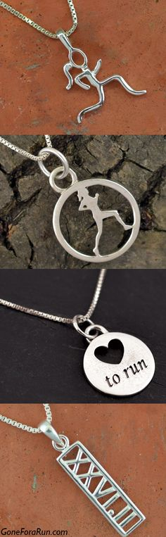 Top Sterling Silver Running Necklaces #Running #Gift #Fun
