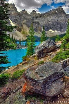 ~~Turquoise Rust ~ Moraine Lake, Banff National Park, Canada by David Pearce~~ Places Around The World, Oh The Places You'll Go, Places To Travel, Parc National De Banff, National Parks, Dream Vacations, Vacation Spots, Beautiful World, Beautiful Places