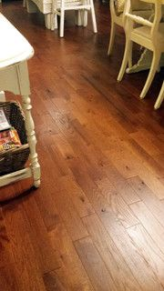 Early american stain on red oak red oak sand for Rustic red oak flooring