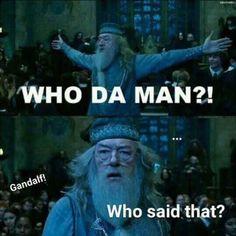 Haha! #HarryPotter vs. #LOTR
