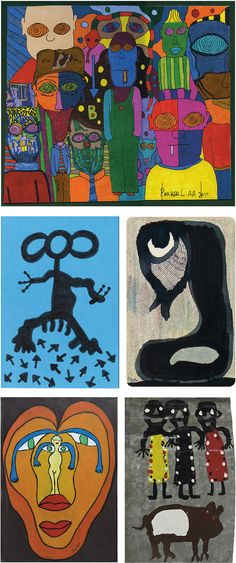 Examples of following outsider artists: Parker Lanier, Maranda Russell, Pierre Albasser, Luc Bénéton and Buddy Snipes – visit www.outsider-art-brut.ch / www.aussenseiterkunst.ch for informations about these artists and their works along with plenty of works by other artists.
