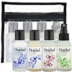 Ouidad - Curl Essentials Starter Kit  #sephora-Shampoo is the only thing we've used so far, using the bag to store samples!