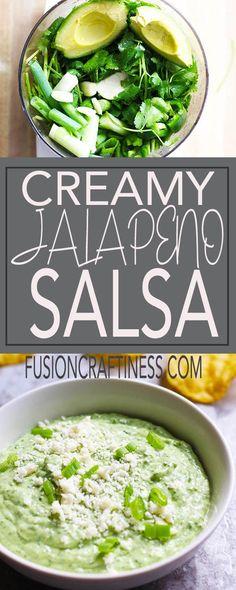 Cinco de Mayo, barbecues, appetizer, easy recipe, avocado, jalapeno, Mexican crema, green onions, garlic, cilantro, lime juice, vegetarian, fusion craftiness.com