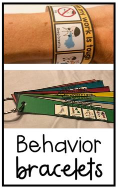 Autism, speech, social, emotional Behavior and social skills bracelets to visually remind students of the appropriate behavior and actions for different social interactions. Encourages students to f Classroom Behavior, Autism Classroom, Social Behavior, Coping Skills, Social Skills, Life Skills, Social Challenges, Social Issues, Appropriate Behavior