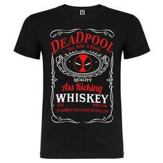 Camiseta Deadpool Etiqueta Jack Daniels Whiskey de SportShirtFactory en Etsy