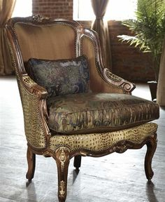 Alligator Chair With Paisley