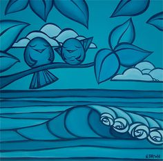 Surf artist @Heather Creswell Creswell Creswell Brown's green art & business practices