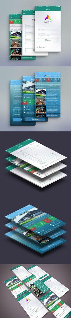 Event Mobile App UI PSD