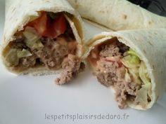 Wrap steak haché Calories, Entrees, Sandwiches, Tacos, Cocktails, Menu, Crudites, Cooking, Wraps