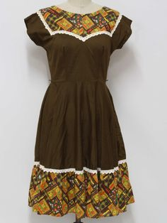 1970's Womens Square dancing Dress $44 Get creative with the fabric matching...