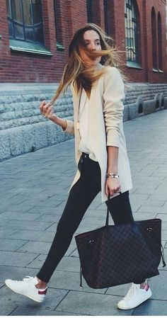 #spring #summer #street #style #outfitideas |Casual Work Spring Outfit Idea