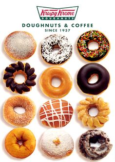 K is for the best doughnuts, Krispy Kreme! Delicious Deserts, Delicious Donuts, Yummy Food, Donut Bar, Doughnut Cake, Dunkin Donuts, Doughnuts, Krispy Kreme Doughnut, Food Places