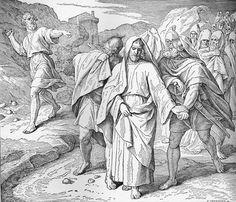 Bilder der Bibel - David von Simei gelästert