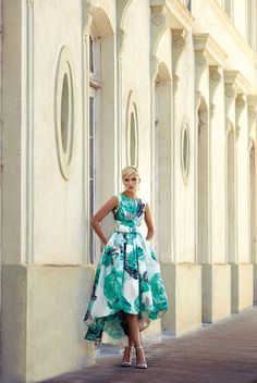 CARLA RUIZ :: Wow! How gorgeous is this High-Low hem dress? the pattern is on trend and the high neckline is so classic and flattering. For Mothers with style.  http://www.agapebridalboutique.com/collections/mothers/carla-ruiz/93540.aspx  #agapebridalboutique #motherofthebride #stylishmotherofthebride #unusualmotherofthebride #modernmotherofthebride #highlowhem