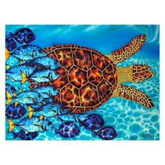 """There/'s Plenty of Fish In The Sea Cushion 30 x 60cm 12/"""" x 24/"""" cotton"""