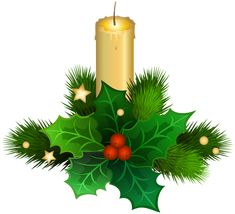 Christmas Candle PNG Clip Art Image