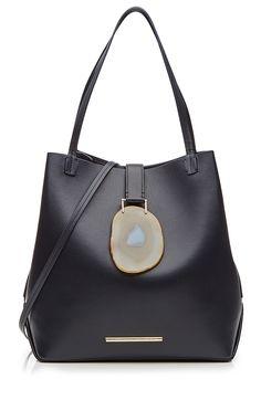 d0c4f29d8863 ROLAND MOURET Leather Tote With Geode Closure.  rolandmouret  bags   shoulder bags