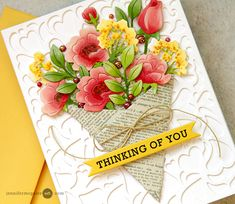 Today I am sharing a few simple tricks for adding color and life to simple die cuts. Easy and quick! Card Kit, Card Tags, Card Making Tutorials, Making Ideas, Hero Arts Cards, Jennifer Mcguire Ink, Handmade Birthday Cards, Handmade Cards, Christmas Cards To Make