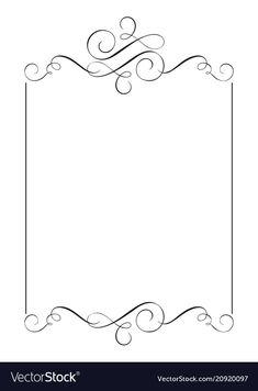 Decorative frames and border standard rectangle vector image on VectorStock Page Borders Free, Page Borders Design, Boarder Designs, Frame Border Design, Borders For Paper, Borders And Frames, Decorative Borders, Decorative Frames, Calligraphy Borders