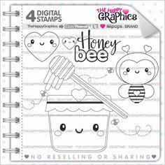 80%OFF - Bee Stamp, Commercial Use, Digi Stamp, Digital Image, Honey Digistamp, Cute Stamps, Animal Stamp, Honey Clipart ,Honey