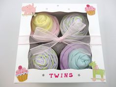Twin Girl Baby Gift 12 piece set Baby gift for by babydelights1, $38.00