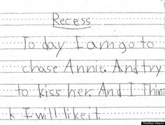 Cute Kid Note Of The Day: I thin....k  I like it...xo [PHOTO]