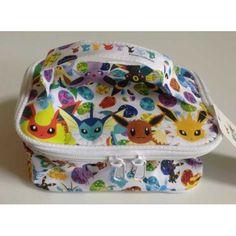 Pokemon Center 2012 Eevee Collection Eevee Espeon Flareon Glaceon Jolteon Leafeon Umbreon Vaporeon Vanity Pouch