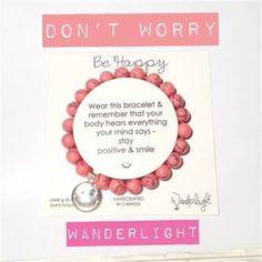 Wanderlight Happy bracelet Pink Turquoise, Staying Positive, Positivity, Sterling Silver, My Style, Bracelets, Happy, Jewellery, Jewels