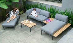 Hudson Lounge Outdoor Garden Furniture, Diy Furniture, Outdoor Decor, Furniture For Small Spaces, Wood Art, Sun Lounger, Minimalism, Sweet Home, House