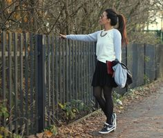 Shop this look on Kaleidoscope (sweater, skirt) http://kalei.do/XGD5MpWecNx5QZ74