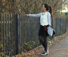 Shop this look on Kaleidoscope (sweater, skirt) http://kalei.do/XGD5MpWecNx5QZ74