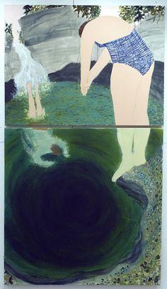 Cady's Falls (diptych), Giordanne Salley