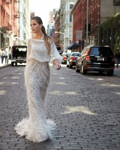 Soho// wedding dress/ Modern Wedding Dresses - Martha Stewart Weddings Fashion & Beauty