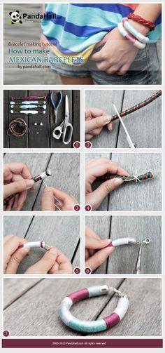 Bracelet making tutorial-how to make Mexican friendship bracelets #jewelrymaking #diy