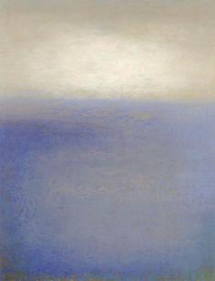 Foi fácil imaginar que estava sentada na areia da praia, num momento de reflexão e o horizonte como compania, linda pintura!