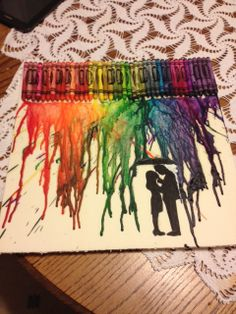 Alena's Musical Musings: Melted Crayon Art! (Easy DIY Craft!)