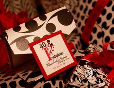 The Rachel - 5x5 Custom Pocketfold - 40 and Fabulous Birthday Soiree Invitation