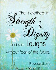 PROVERBS 31:25 Woman Printable Typography by DesignsbyLindaNee