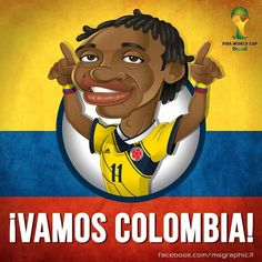 ¡¡¡¡¡CUADRADO -JUGADOR SELECCION COLOMBIA!!! Lionel Messi, Colombia South America, Fifa World Cup, Soccer Players, Art World, Scooby Doo, Fictional Characters, Caricatures, Bella