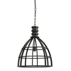 Hanglamp Ivy metaal antiek zwart 62,5xØ50
