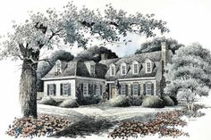 Colonial Exterior - Front Elevation Plan #429-93 - Houseplans.com