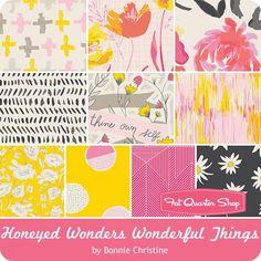 Honeyed Wonders Wonderful Things by Bonnie Christine for Art Gallery Fabrics - December 2016