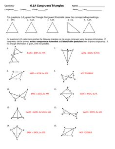 triangle congruence worksheet - Google Search