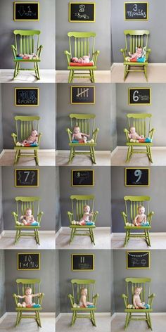 A Fabulous DIY project idea to showcase your newborn's age progression during his or her most formative years. #photo #newborn #baby