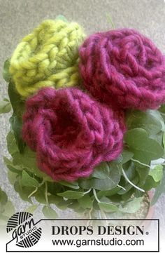 Cute n Quick Roses: free pattern