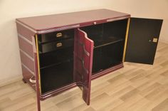 Exceptional Lilac Art Deco Sideboard | From a unique collection of antique and modern sideboards at http://www.1stdibs.com/furniture/storage-case-pieces/sideboards/
