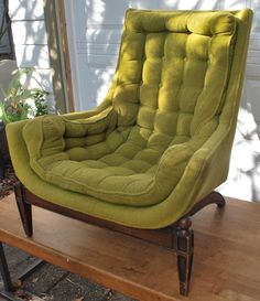 Vintage Olive Green Chair by junk2funkbiz on Etsy
