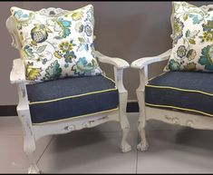 Chair Makeover, Furniture Makeover, Home Furniture, Outdoor Sofa Sets, Easy Home Decor, Painted Furniture, Accent Chairs, Armchair, Bedroom Decor